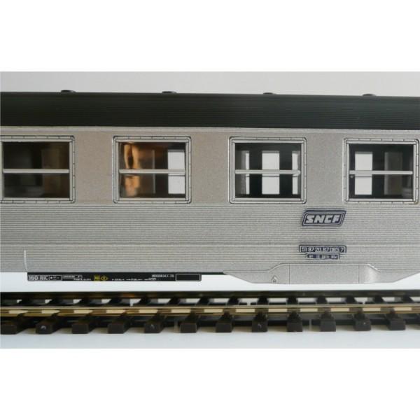 lot de 4 voitures dev inox jouef hj4042 4041 ho boutique du train. Black Bedroom Furniture Sets. Home Design Ideas