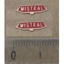 Lot de 2 plaques MISTRAL plates pour locomotive HO