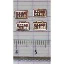 4 plaques 141 R 1199 et 30 R 1199 peintes en laiton