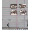 4 plaques 141 R 1207 et 30 R 1207 peintes en laiton