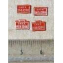4 plaques 141 R 1288 et 30 R 1288 peintes en laiton