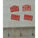 4 plaques 141R13 et 30R13 peintes en laiton