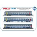 Coffret de 3 voitures corail TER Bourgogne PIKO 58639