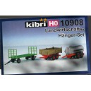Kibri 10908 - H0 Set de remorques agricoles