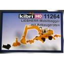 Kibri 11264 - H0 LIEBHERR excavatrice mobile avec accessoires de construction