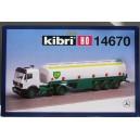 Kibri 14670 - H0 MB a 2 essieux avec semi-remorque pour essence BP