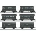 Set de six wagons trémie charbon ou coke de la SNCF Makette 4571 HO