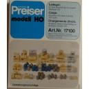 Chargement divers 90 pieces - PREISER - 17100 - HO