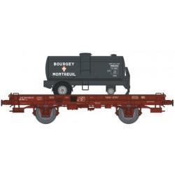 Wagon MONO - PORTEUR - REE WB-152 - EP IV - BOURGEY MONTREUIL HO