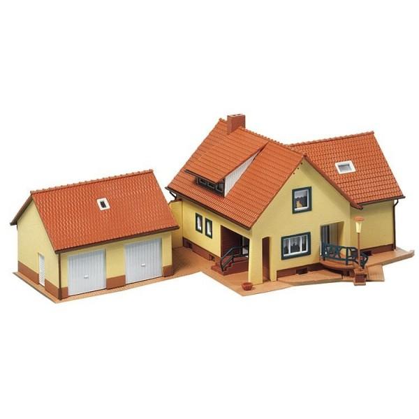 faller maison villa avec garage 131276 ho boutique du train. Black Bedroom Furniture Sets. Home Design Ideas