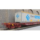 LS models - LSM 30100 - Wagon porte container ERWALS ep V - sncf  HO