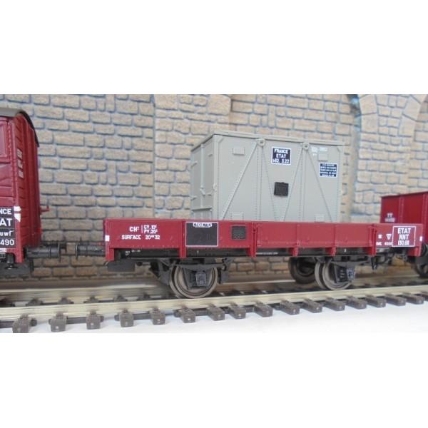 LSM-30273 Set De 3 Carros Cubiertos Y Dumper