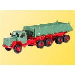 Kibri 14036 - Camion Magirus deutz avec remorque meiller - HO