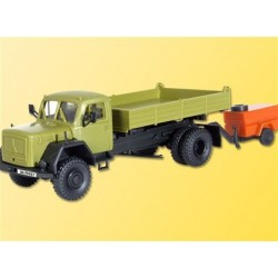 Kibri 14045 - Camion Magirus deutz 2 essieux avec remorque compresseur - HO