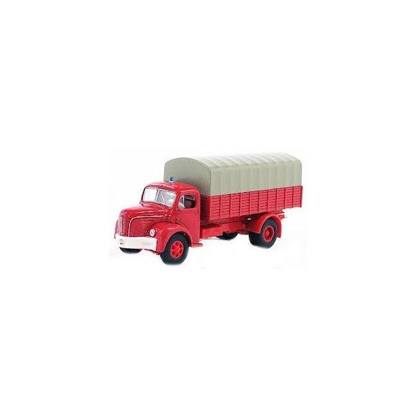 sai 2624 camion pompier bach miniature 1 87 berliet glr8 azur ho boutique du train. Black Bedroom Furniture Sets. Home Design Ideas