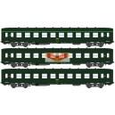 REE modeles vb041 - Set de 3 Voitures DEV A0 courte B10 Vert ep4 - HO