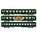 REE modeles vb057 - Set de 3 Voitures DEV A0 courte A8-B10 Vert ep4 - HO