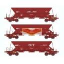 REE WB310 - 3 Wagons Tremie EX T1  - ep IV - ARBEL-MIDI-CRFF - HO scale 1/87
