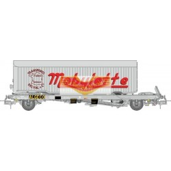 "REE modeles WB-342 - Wagon KANGOUROU Ep.III + Remorque ""MOBYLETTE"" tôlé simple axle - HO"
