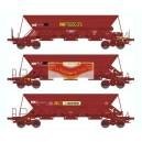 REE modeles WB-311 - COFFERT 3 WAGONS TREMIE EX T2/T3 Ep.IV-V «SIMOTRA» - HO