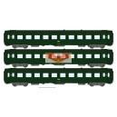 REE modeles vb066 - coffret de 3 Voitures voyageur UIC Vert celtique ep4 - HO