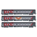 LS models LSM-48112 SET of 3 passenger cars MOSCOW-PARIS, ep 6 - HO