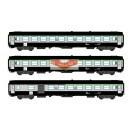 REE modeles vb072 - coffret de 3 Voitures voyageur UIC TER Vert garigue - gris beton ep5 - HO