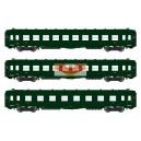 REE modeles vb137 - Set de 3 Voitures DEV A0 courtes A8-C10 Vert 306 ep3A - HO