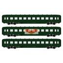 REE modeles vb129 - Set of 3 passenger cars DEV A0 courtes B10 Vert 306 ep3 - HO