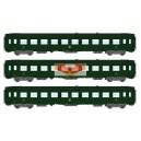 REE modeles vb170 - coffret de 3 Voitures voyageur UIC couchettes livree vert 301 - ep3 - HO
