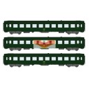 REE modeles vb172 - coffret de 3 Voitures voyageur UIC couchettes livree vert 301 - ep4 - HO