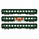 REE vb172 - box of 3 UIC Green passenger Cars ep3 - HO