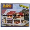 Le village : Fleuriste et coiffeur - MKD MK617 - HO
