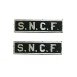 Plaques laiton SNCF